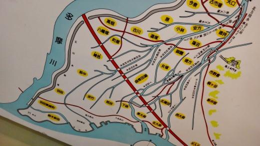 Tokyo Rokugo irrigation canal map detail