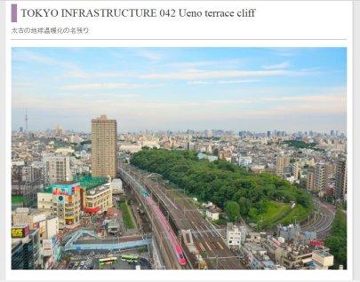 Ueno Terrace Cliff Tokyo aerial photo