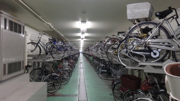 Ota-ku city hall Kamata underground bike parking 2